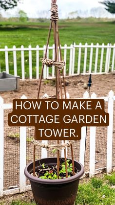 Garden Yard Ideas, Garden Crafts, Garden Projects, Lawn And Garden, Diy Trellis, Garden Trellis, Garden Planters, Trellis Ideas, Farm Gardens