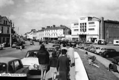 Old Ireland image, Salthill promenade Galway, early 1960's. Still looked the same in the early 2000's when I walked it.