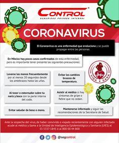 Compartimos una infografía con los datos que debes saber sobre la prevención del #CoronaVirus o Covid_19 en #México. #Salud #VidaSana Healthy Life, Health