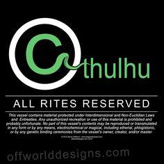 OffWorld Designs - Cthulhu Rites T-Shirt, $20.00 (http://www.offworlddesigns.com/cthulhu-rites-t-shirt/)