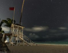 Deserted on the beach. Long exposure photograph of a lifeguard tower on the beach. Lifeguard, Long Exposure, Deserts, Fair Grounds, Tower, Beach, Fun, Travel, Rook