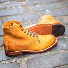 Wolverine 1000 Mile Original Tan Boot , $360 , Photo by: fatbuddhastore #menboots #wolverineboots