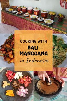 Take an authentic cooking class while in Ubud, Indonesia that offers the perfect setting, menu, ambience and hilarious chef at Bali Manggang. #cookingclass #bali #ubud #cookinginindonesia via @Bakersbeans