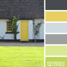 Color Palette: Yellow, Green, Gray, Black. If you like our color inspiration sign up for our monthly trend letter - click the image for the link.