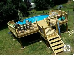 Above ground pool ideas above ground swimming pool with deck above ground pool maintenance above ground pool landscaping hacks oval sunken designs steps Above Ground Pool Landscaping, Above Ground Pool Decks, Backyard Pool Landscaping, Above Ground Swimming Pools, In Ground Pools, Landscaping Ideas, Backyard Ideas, Deck Patio, Garden Ideas