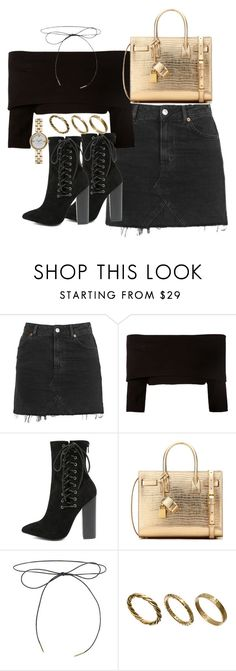 """""""Untitled #2576"""" by theeuropeancloset ❤ liked on Polyvore featuring Topshop, Dorothee Schumacher, Olivia Jaymes, Yves Saint Laurent, Made and Marc Jacobs"""