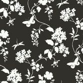 """Found it at Wayfair - Silhouettes Trailing 27' x 27"""" Floral Embossed Wallpaper"""