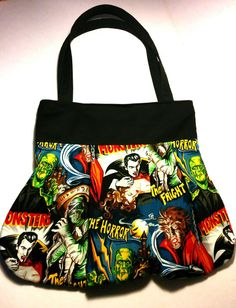 Classic Monster Handbag by AngelCityArts on Etsy