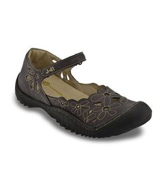 Another great find on #zulily! Brown Lotus Mary Jane by J-41 Footwear #zulilyfinds