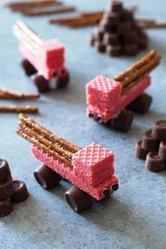 Snacks für Bauarbeiter Diese Snack-Idee sieht super lecker aus. Vielen Dank Dein balloonas.com #kindergeburtstag #motto #mottoparty #kids #kinder #party #birthday #lecker #gesund #essen #snacks #food
