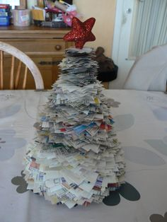 sapin en papier journal