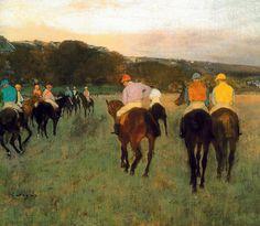 Edgar Degas - Carreras de caballos en Longchamps, 1871 en el Museo de Bellas Artes de Boston MA