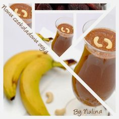 Zielone koktajle: banan + kakao + nerkowce + morela + konopie + granat + cytryna