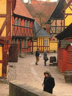 Aarhus, Den Gamle By  The Old Town in Aarhus, Denmark (Danish: Den Gamle By), is an open-air town museum consisting of 75 historical buildings collected from 20 townships in all parts of the country. In 1914 the museum opened as the world's first open-air museum of its kind, concentrating on town culture rather than village culture