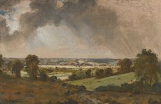 Dedham Vale, with a view to Langham Church by John Constable c. 1814-15 Oil on Millboard, set into Panel (Private Collection)