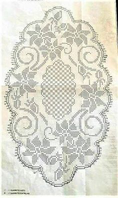 Crochet Edging And Borders Previous 3 of 3 Handmade crocheted table center in your desired length, filet crochet lace trim, linear or turning edge for home décor and table [. Filet Crochet Charts, Crochet Doily Patterns, Crochet Borders, Thread Crochet, Crochet Motif, Crochet Designs, Crochet Doilies, Knitting Charts, Crochet Table Runner