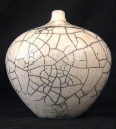 Raku crackle glaze ~ Artist unknown