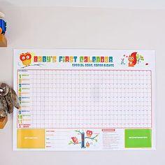 Baby's First Keepsake Calendar