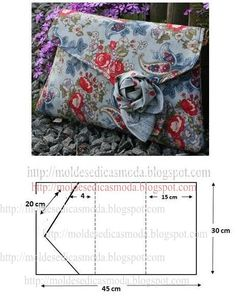 Bags, handbags, wallets))))- Сумки, сумочки , кошельки)))) Different bags with patterns. Sewing Tutorials, Sewing Crafts, Sewing Projects, Bag Patterns To Sew, Sewing Patterns, Clutch Pattern, Diy Clutch, Diy Bags Purses, Patchwork Bags