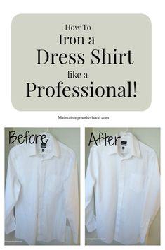 How to Iron a Dress Shirt Like a Professional