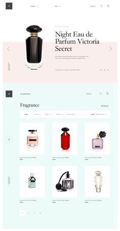 Parfume Website Layout