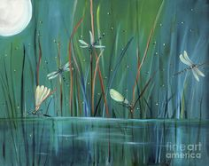 Dragonfly Diner Painting  - Dragonfly Diner Fine Art Print