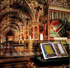 Vatican Library #books #library #libri #biblioteca #livres #bibliotheque  - More wonders at www.francescocatalano.it