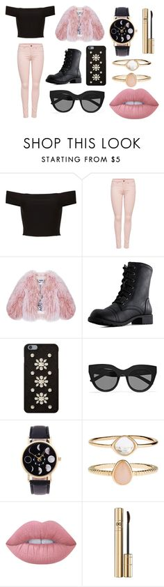 """""""Pink && Black"""" by immig2003 on Polyvore featuring Florence Bridge, MICHAEL Michael Kors, Le Specs, Accessorize, Lime Crime, Dolce&Gabbana, cute, Pink, black and fashionset"""