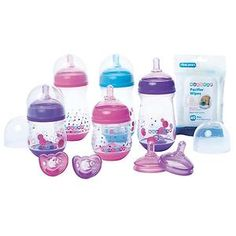 Gumdrop Wide Bottle Set- Girl-gumdrop, bottle set, gift set, baby shower gift, boy