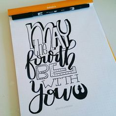 Starwars day Handlettering by @Barbrusheson
