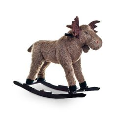 I'm pretty sure she needs this... Find it at the Foundary - Happy Trails Plush Rocking Max Moose