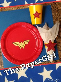 Hey, I found this really awesome Etsy listing at https://www.etsy.com/listing/230246200/24pc-wonderwoman-logo-lunch-dinner-party