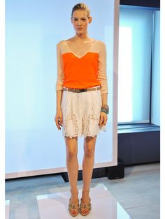 Rachel Roy Spring 2013  Boy Shorts are a HUGE runway trend! They're actually wearable! I love the colors that could easily carry into summer!