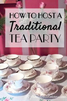 I love these traditional tea party ideas! All the food, scone recipes, clotted cream, finger sandwiches and sweets that you need to host the perfect afternoon tea. tea party menu How To Host A Traditional Tea Party - Entertaining Diva @ From House To Home Tea Party Menu, Tea Party Bridal Shower, Tea Party Recipes, Tea Party Foods, Tea Party Sandwiches Recipes, High Tea Sandwiches, Tea Party Desserts, Tea Party Table, Food For Tea Party