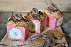 Gouter muffins - Recette des muffins aux spéculoos et double chocolat - Kaderick en Kuizinn© #muffins #speculoos #chocolat #gouter
