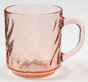 Arcoroc Rosaline Pink Swirl Mugs