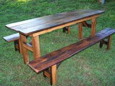 Old Barn Wood Picnic Table Good Idea To Put The Glass On Top - Barn wood picnic table