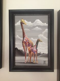 "Michael Summers print ""A Mother's Love"" #mother #mom #gifts #art #giraffe"