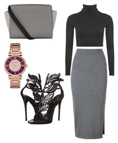 """""""Styled by Jasmine """" by jasmineemichelle ❤ liked on Polyvore featuring Boohoo, Whistles, Michael Kors, MICHAEL Michael Kors and Giuseppe Zanotti"""