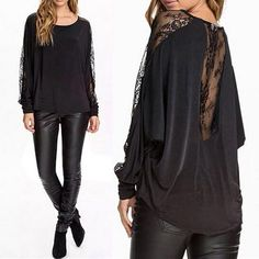 It's one of our best sellers: Don't miss a chance: Women Lace Splice...  http://vinnysdigitalemporium.com/products/women-lace-splice-sexy-blouses-shirt-o-neck-long-batwing-sleeve-casual-solid?utm_campaign=social_autopilot&utm_source=pin&utm_medium=pin