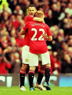 Ryan Giggs and Paul Scholes, Manchester United FC.