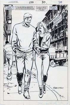 brianmichaelbendis:  Daredevil #233, Page 30 by David...