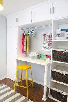 71 Built-In Laundry Sorting/Folding Station