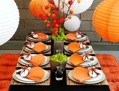 Asian Dinner Party..I love this look. AND I think I'd like to have my guests sitting on the floor instead of at the table too!