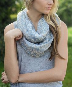 Another great find on #zulily! Leto Collection Mint Geo Infinity Scarf by Leto Collection #zulilyfinds