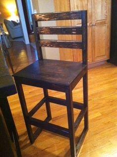 Ana White Build A Simple Modern Bar Stools Free And