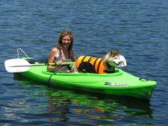 Kayaking with my siberian husky!