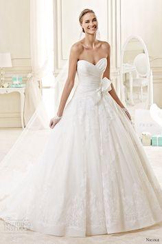 nicole spose bridal 2015 style 15 niab15031ivtf ballgown strapless sweetheart neckline