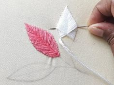 Hand Embroidery Patterns Flowers, Embroidery Leaf, Hand Embroidery Videos, Embroidery Stitches Tutorial, Creative Embroidery, Embroidery For Beginners, Hand Embroidery Designs, Embroidery Kits, Cross Stitch Embroidery