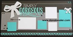 Jeepers Creepers Gorgeous Wedding Prom Homecoming Two Page Scrapbook Layout…